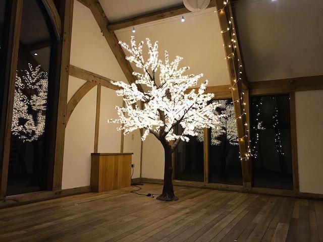 LED Tree Hire | LED Blossom Leaf Tree Hire | Wedding Venue